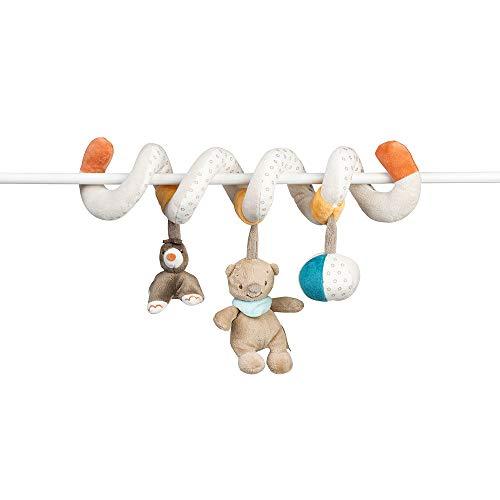 Nattou Spirale de Jeu avec Figurines Suspendues, Mia et Basile, 21 x 12 x 40 cm, Blanc/Brun/Orange