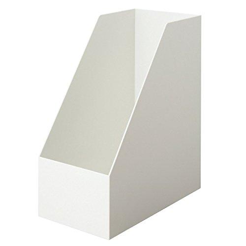 無印良品 【まとめ買い】ポリプロピレンスタンドファイルボックス・ワイドA4用・ホワイトグレ 6個セットの写真