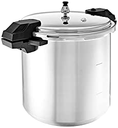 top 10 pressure canners Mirro 92122 92122A Pressure Cooker / Canned Aluminum Polished Product, 5/10/15 PSI, 22 qt, Silver