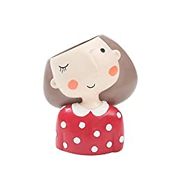 Clearance Sale!DEESEE(TM)Cute Cartoon Girl Container for Home Garden Office Desktop Decoration