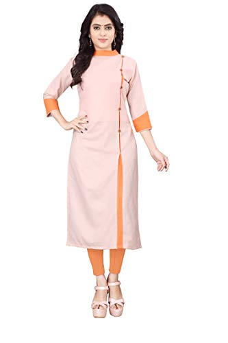 Leriya Fashion Women's Cotton anarkali Kurta (Leriya-LF-K2176-L_ Pink_ Large)
