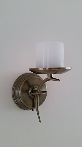 Flameless Candle Wall Sconce - Brass - Battery Operated