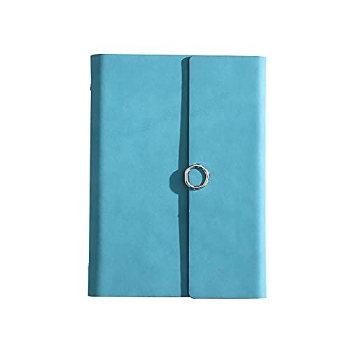 JUGTL Cuaderno Para A5 Hoja Suelta Simple Negocio Ruled Diario Cubierta De Cuenta Manual Original Libreta Notas Azul Claro A5 17X23CM