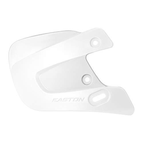EASTON Batting Helmet Extended JAW GUARD | Right Handed Batter | White | 2020 | Fits EASTON PRO X , Z5 2.0 , Z5 , & ALPHA Batting Helmets | Baseball Softball