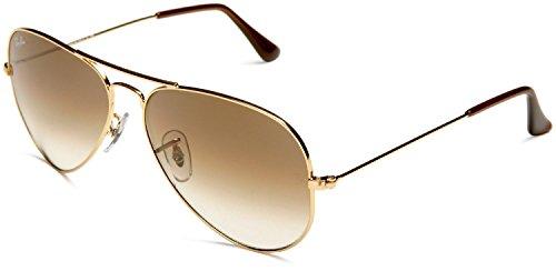 Ray-Ban RAY BAN AVIATOR Sonnenbrille/Sunglasses - Gelb/Braun RB3025 001/51 (58mm)