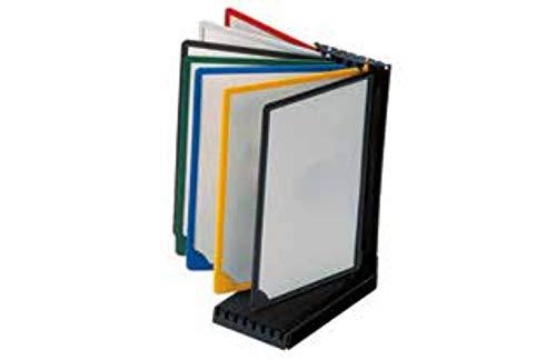 Sistema de visualización de mesa DIN A4, muy estable, con 7 o 10 marcos en color, incluye fundas antirreflectantes, multicolor 7 marcos