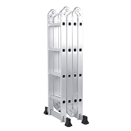Escalera multifunción ajustable, 4,7 m, de aluminio,...