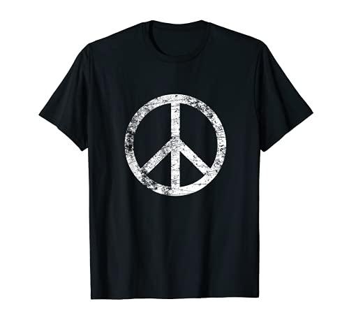 Signo de paz angustiado retro vintage símbolo de la paz Camiseta