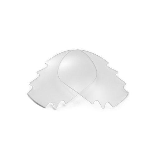 Walleva Vented Ersatzgläser für Oakley Racing Jacket Sonnenbrille - Mehrfache Optionen (Klar)