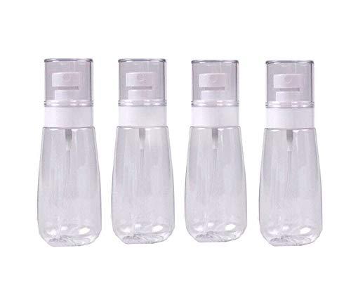 4 Stück Tragbare Reisen Flaschen Leere Durchsichtigen Kunststoff Feinnebel Sprühflaschen 80 ml