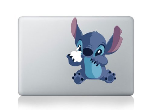 MacBook Stitch Apple Vinyl Decal Sticker For MacBook Pro/Air 13' (for Pre-2016 Macbooks)