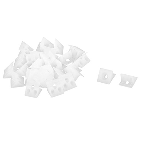 Plastic Home Accessory Furniture Corner Angle Fixing Support Bracket Plates 30pcs White