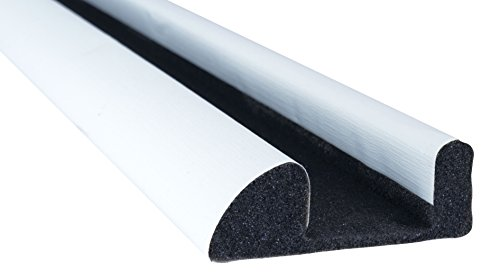 STORMGUARD 02SR6630914W White Internal Foam Under Door Draught Excluder