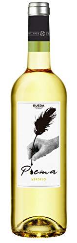 Poema Verdejo Vino Blanco D.O Rueda- Botella de 750 ml, Bodega Cuatro Rayas