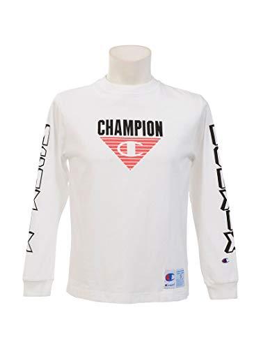 [チャンピオン] ロングTシャツ 長袖Tシャツ 袖プリント グラフィックプリント ジョックタグ C3-Q408 メンズ ホワイト L