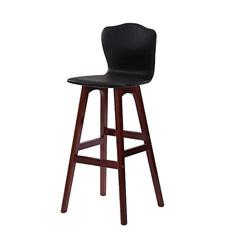 NAN liang Chaises latérales de bistrot de bistrot modernes et confortables avec pieds en bois, disponibles en 4 couleurs, H65CM / 74CM. (Couleur : NOIR, taille : H74CM)