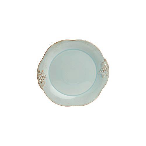 Casafina Madeira Harvest Collection Stoneware Ceramic Salad Plate 8', Robin's Egg Blue