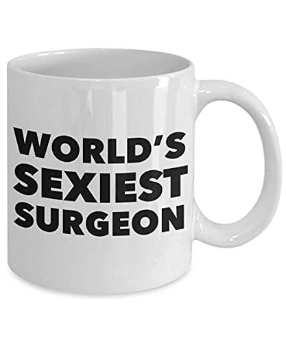 Taza de café divertida Taza de té Cirujano plástico Cirujano ortopédico Taza Taza Mejor cirujano general Taza Taza Taza de cirujano más sexy del mundo Taza Cirujano divertido Tazas de café par