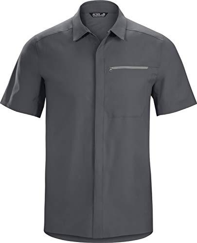 Arc'teryx Skyline Shirt SS Men's   Everyday Snap Front Top   Cinder, Medium