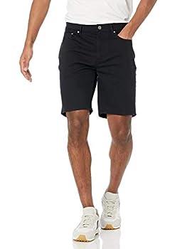 Amazon Essentials Men s Slim-Fit 9  Inseam Stretch 5-Pocket Short Black 33