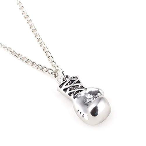 Shihan Rocky Mini Boxhandschuh Halskette Silber Anhänger für Herren