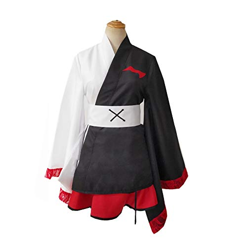 Danganronpa Monokuma Cosplay Traje Japonés Tradicional Kimono Uniforme Vestido Trajes Halloween Carnaval Cosplay Disfraz