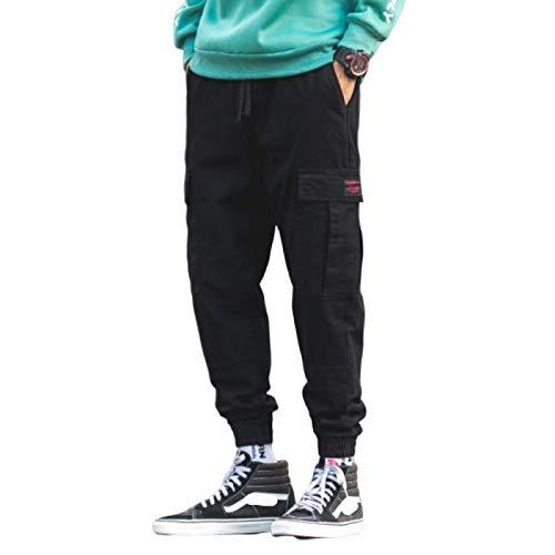 Pantalones Casuales para Hombre Pantalones de Trabajo de Combate de Carga de Lona elástica Pantalones de Caza de Campo de Trabajo al Aire Libre a Prueba de Viento Cintura elástica Ripstop 3X-Large