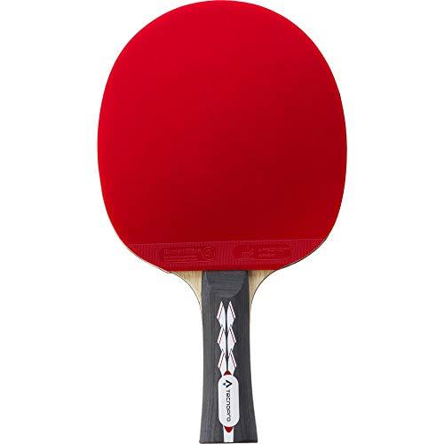 TECNOPRO Unisex– Erwachsene Pro 5000 Plus TT-Schläger, Black/Red, 1size