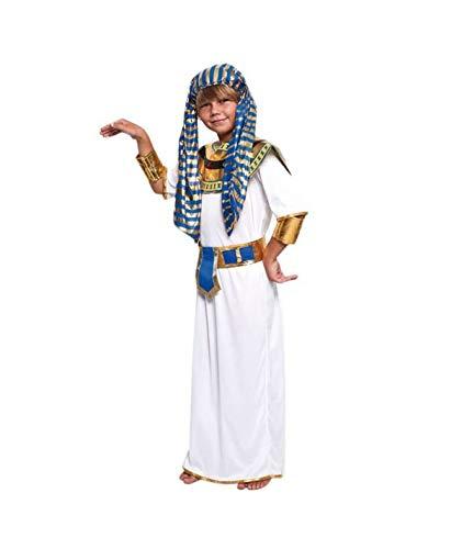 Partylandia Disfraz de Faraón Egipcio para niño Carnaval Cosplay Cómodo Suave 3-4 Años
