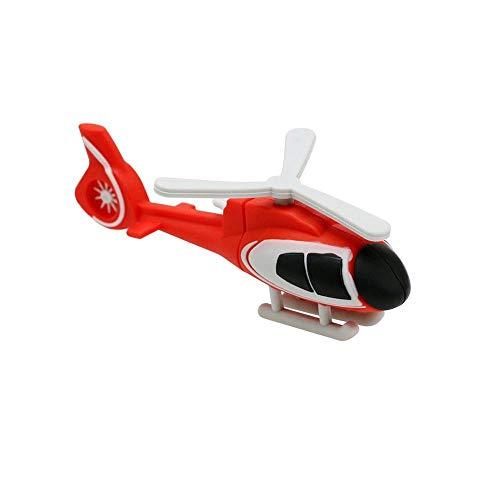32GB USB 3.0 Flash Drive Thumb Drives - Mini 32 GB Red Helicopter USB Memory Stick Pendrive - Portable Data Storage Pen Drive - Civetman