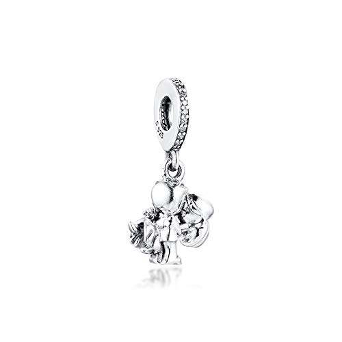 LILANG Pulsera de joyería Pandora 925, dijes Naturales para Parejas Casadas, Cuentas de Plata esterlina con Ajuste Original para Hacer Berloque, Regalo DIY para Mujeres
