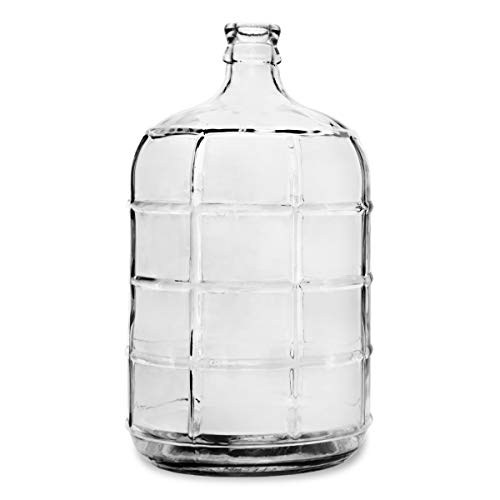 Geo Sports Bottles 3 Gallon Round Glass Carboy Fits 30mm Cork Finish or 55mm Push Cap Home Brew (Clear Glass)
