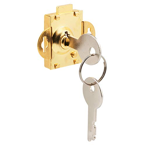Prime-Line MP4048 Mail Box Lock, 1/4 Inch Throw, Steel, Brass Plated, Pack of 1