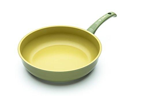 ILLA ol6428Antihaft-Pfanne in Olivenöl 100% Made in Italy, Aluminium, Olivgrün