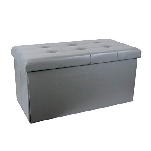 Zedelmaier Sitzhocker Sitzbank faltbar mit Stauraum belastbar bis 300 kg 76 x 38 x 38 cm (Dunkelgrau)