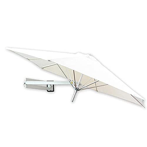 H-BEI Sombrilla de Aluminio de Pared, Sombrilla de jardín con protección UV, Sombrilla de Exterior Impermeable, Sombrilla de terraza Ajustable, Beige