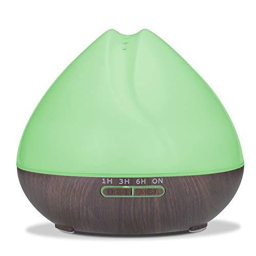 Máquina de aromaterapia Wang, humidificador de aire ultrasónico, máquina de aromaterapia, luces de colores, luces nocturnas, anhidro, 400 ml