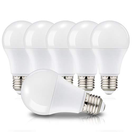 Ampoules LED E27 A60 Culot Edison à vis, 12W Équivaut à 100W, 6000K Blanc Froid, 1150 Lm, 220-240V, Lot de 6