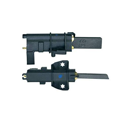 Carboncini 2 spazzole di carbone con supporto di ricambio per Bosch Siemens 00151614 Whirlpool 481931088529 lavatrice 13,5 x 4,9 x 34 mm 4,8 mm AMP per motore CESET