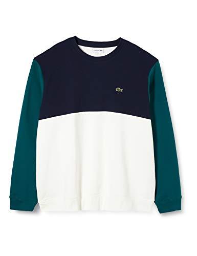 Lacoste Herren Sh5185 Sweatshirt, Weiß (Farine/Marine-Pin Xp2), XXX-Large (Herstellergröße: 8)