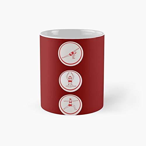 Taza clásica de yoga para niñas | El mejor regalo divertidas tazas de café de 325 ml