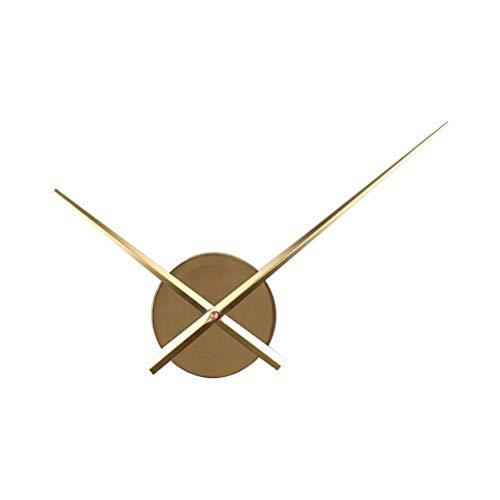 VOSAREA Bricolaje Punto de Cruz Reloj Agujas Relojes de Pared 3D Home Art Decor Reloj de Cuarzo Mecanismo Accesorios (sin batería) Oro
