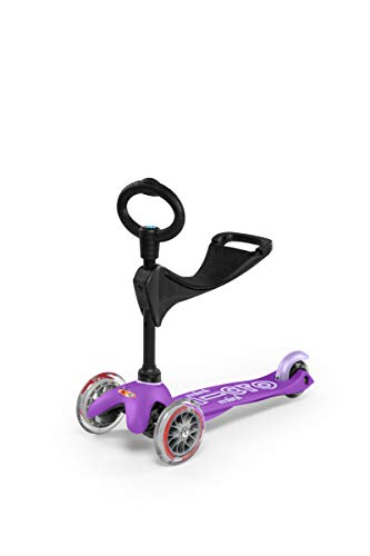 Mini 3in1 Deluxe 3-Stage Ride-on Micro Scooter Toddler Toys for Ages 12 Months to 5 Years - Purple