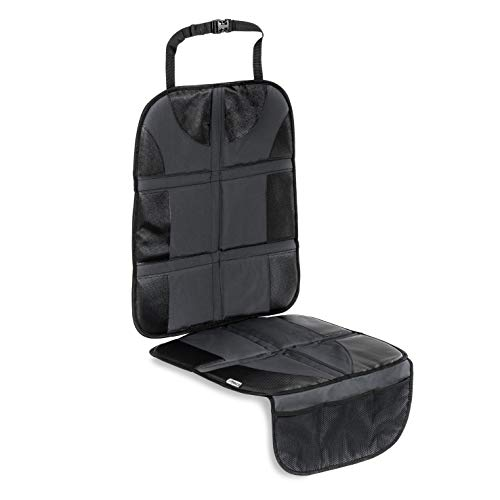 Hauck Sit On Me Deluxe - Protector de asiento de coche, compatible con Isofix, reboarder y sillas de auto infantil, 47 x 121 cm, gris
