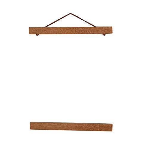 Rehomy Moderner magnetischer Holz-Bilderrahmen zum Selbermachen, Posterdruck, Kunstwerk, Aufhänger, Teakholz, 21 cm