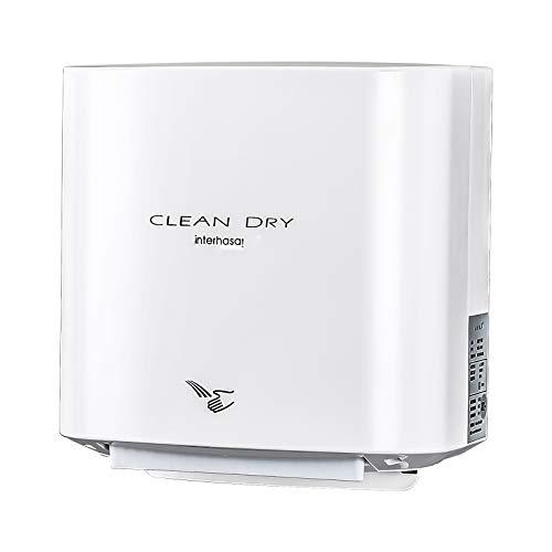 interhasa! Automatischer Handtrockner zur Wandmontage, hohe Geschwindigkeit für Toiletten, kommerzielle Leistungsstarke 1000 W, elektrischer Handtrockner für Hotel und Zuhause (weiß)