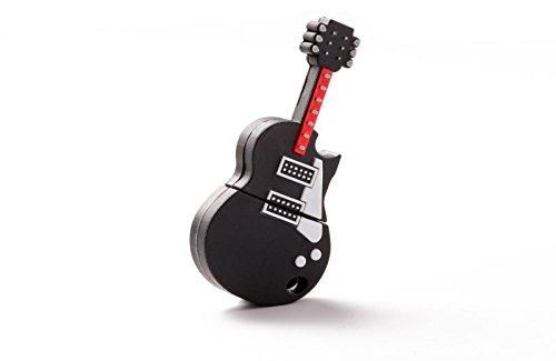 DISOK - Memoria USB Llavero Guitarra - Memorias USB Pendrive Baratos Originales Guitarra Música para Detalles, Regalos y Recuerdos de Bodas, Comuniones Invitados