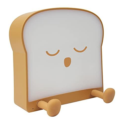 Toast Night Light, Láminas De Mesita De Noche LED, USB Creativo Dibujos Animados Mini Teléfono Móvil Soporte Dimmilizable Luz De Noche para Sala De Estar Dormitorio,C