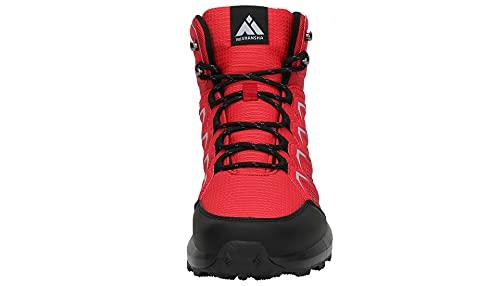 Mishansha Zapatillas Senderismo Hombre Trail Mount Botas Montaña Zapatos Trekking Escalada Deportes de Exterior, Rojo 44 EU