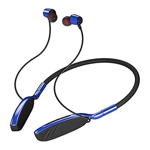 Los Nuevos Auriculares Inalámbricos 5.0 Montados En El Cuello con Bluetooth con Cancelación De Ruido Son Adecuados para Deportes, Oficina, Fitness Y Otras Ocasiones,Vibrant Blue